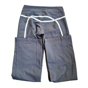 Lululemon Long Wide Leg Yoga Pants in Dark Gray